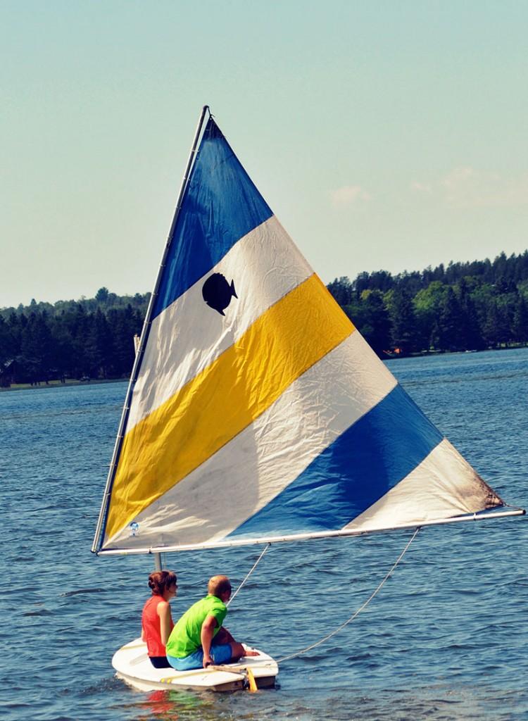 Brookside sailboat